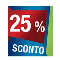 Prodotti con sconto 25 %